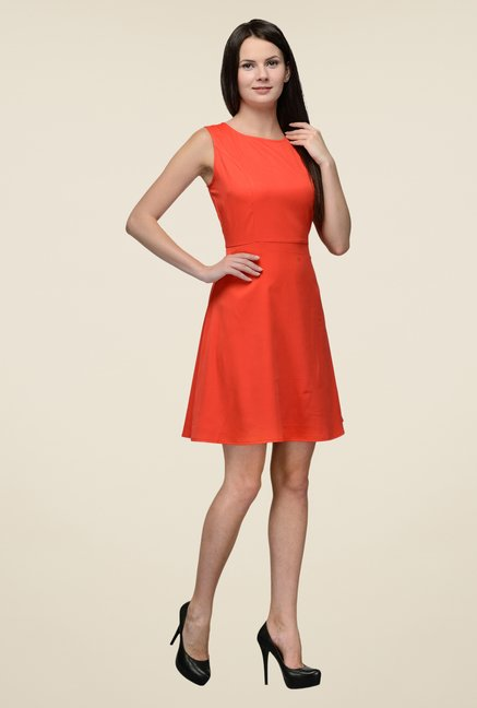 United Colors of Benetton Red A-line Dress