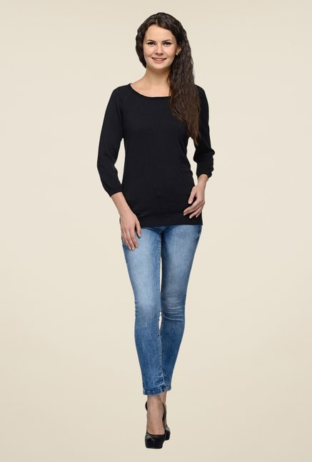 United Colors of Benetton Black Solid Top
