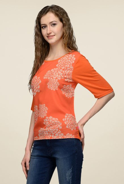 United Colors of Benetton Orange Printed Top