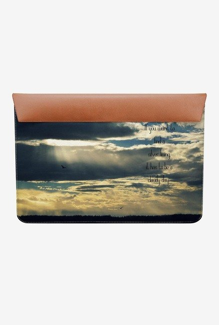"DailyObjects Silver Lining MacBook 12"" Envelope Sleeve"