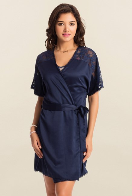 PrettySecrets Midnight Navy Midnight Spell Short Robe