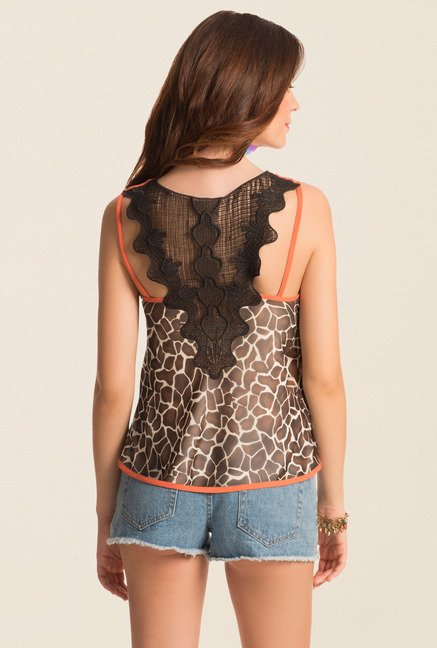 PrettySecrets Brown Spring Bound Cami Top