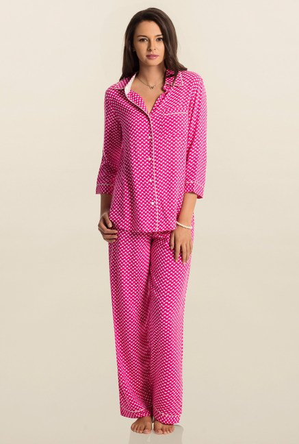 PrettySecrets Pink Snuggle Up Top & Pyjama Set