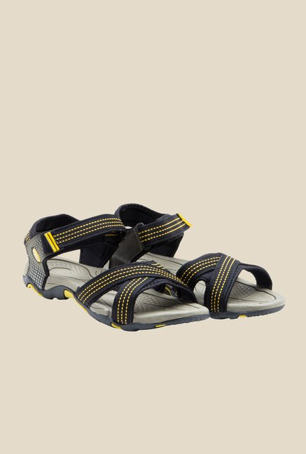 Lancer Black & Yellow Floater Sandals