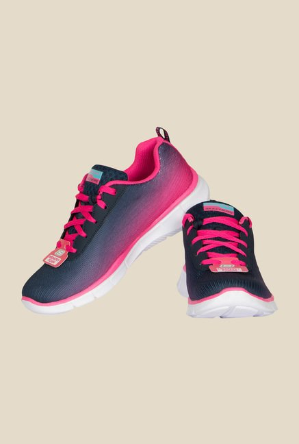 Skechers Equalizer Navy & Pink Running Shoes