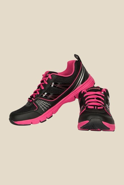 Skechers Black & Pink Running Shoes