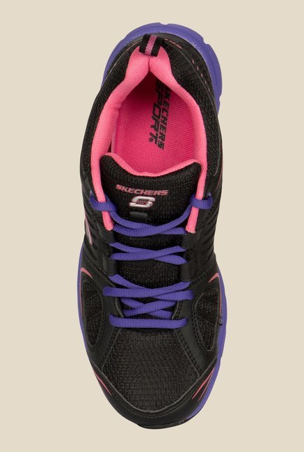 Skechers Black & Blue Running Shoes