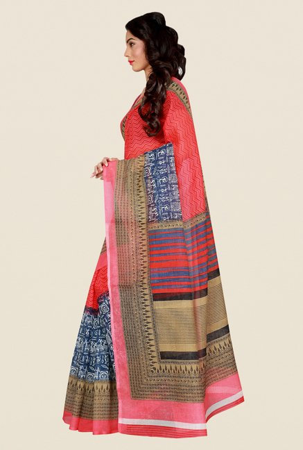 Shonaya Pink Art Silk Saree