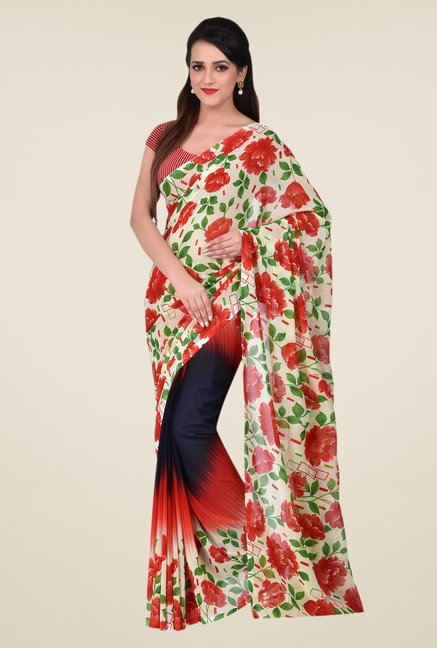 Shonaya Multicolor Dani Georgette Floral Saree