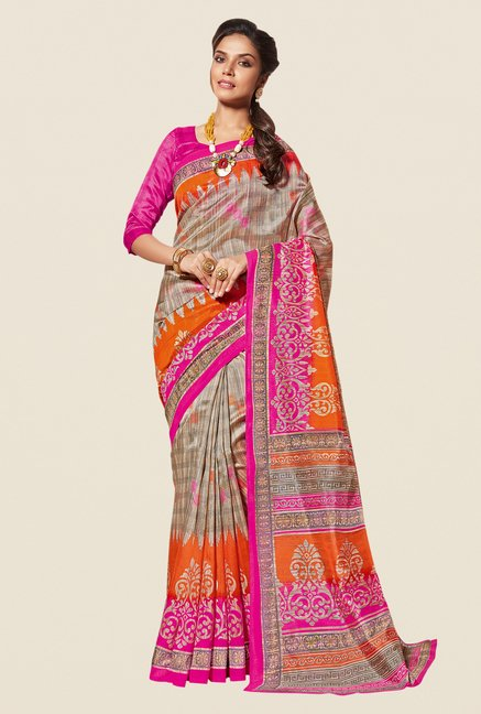Shonaya Multicolor Cotton Silk Printed Saree
