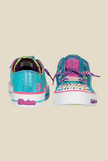 Skechers Shuffles Turquoise & Purple Sneakers
