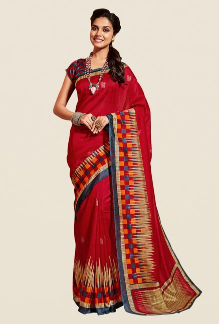 Shonaya Red Cotton Silk Saree