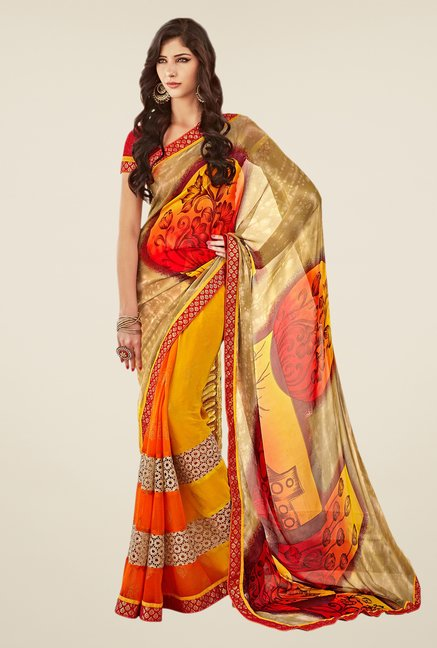 Shonaya Multicolor Georgette Saree