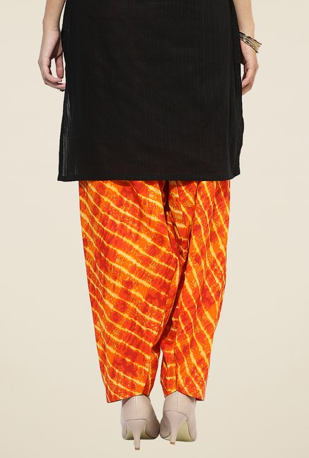Stylenmart Orange Printed Salwar