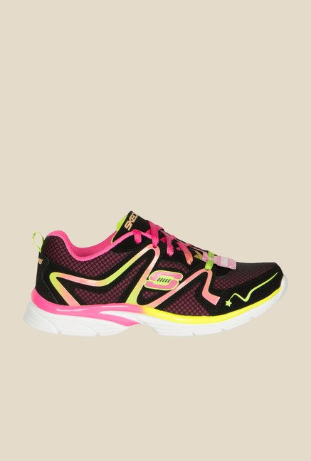 Skechers Jump Upz Black & Pink Sneakers