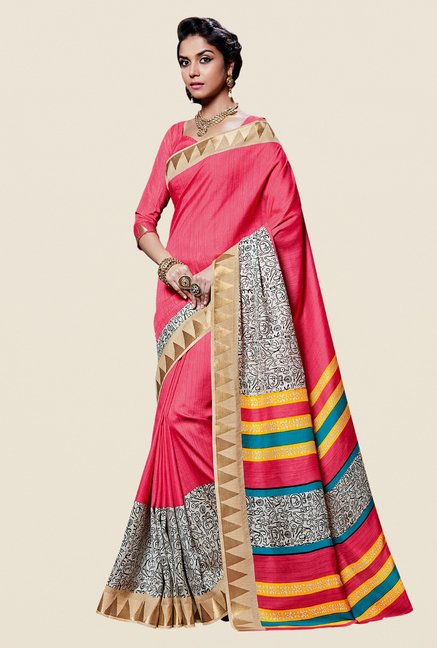 Shonaya Peach Kanjivaram Art Silk Saree
