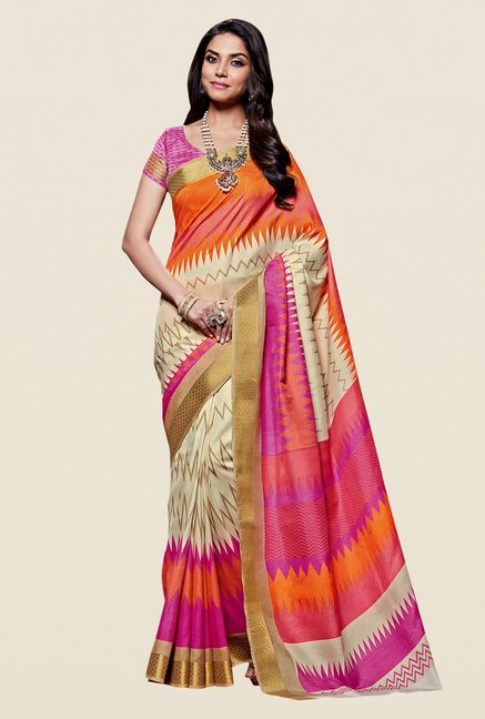 Shonaya Multicolor Kanjivaram Art Silk Saree