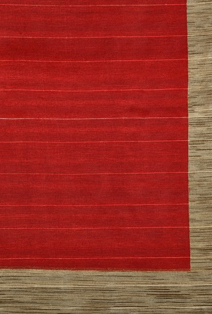 Shonaya Red & White Bhagalpuri Art Silk Saree