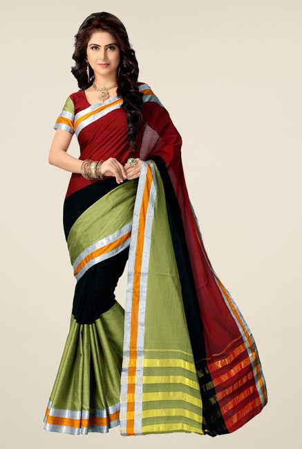 Shonaya Multicolor Cotton Silk Dry Clean Free Size Saree