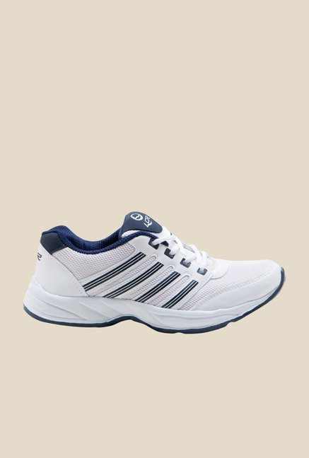 Lancer White & Navy Running Shoes