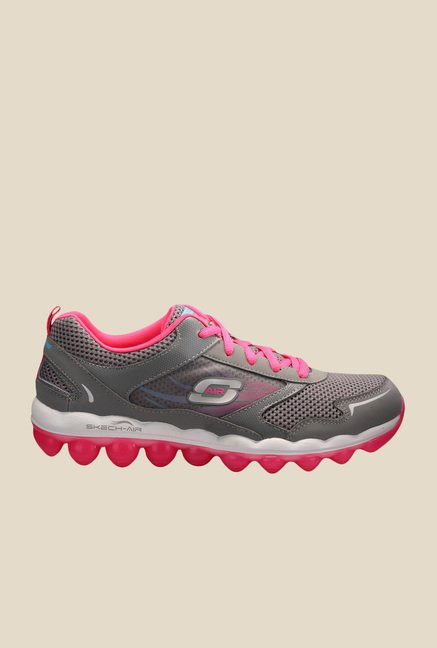 Skechers Skech Air RF Grey & Pink Running Shoes