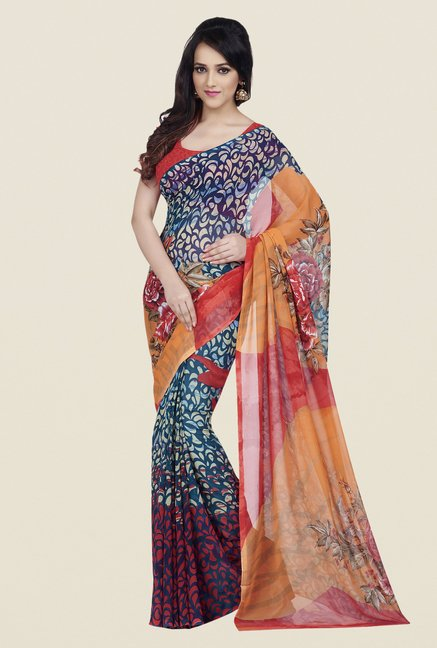 Shonaya Multicolor Dani Georgette Dry Clean Saree