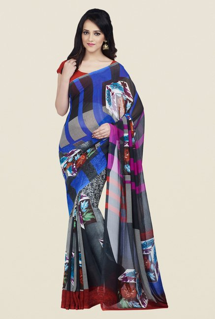 Shonaya Multicolor Dani Georgette Free Size Dry Clean Saree