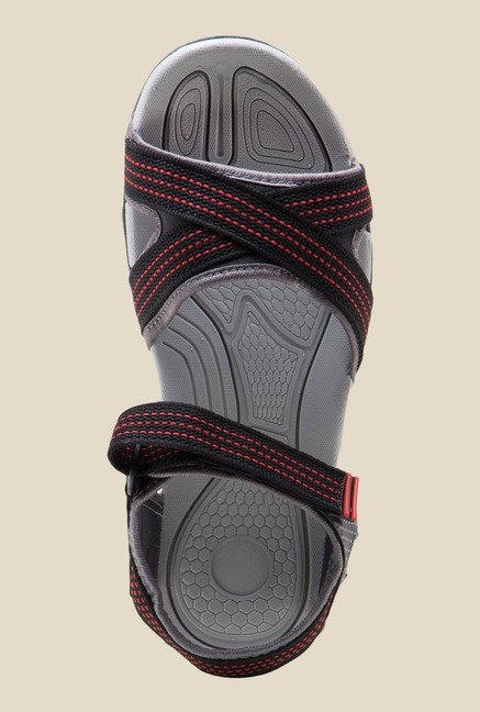 Lancer Black & Red Floater Sandals