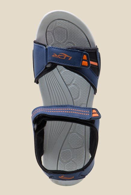 Lancer Navy & Orange Floater Sandals