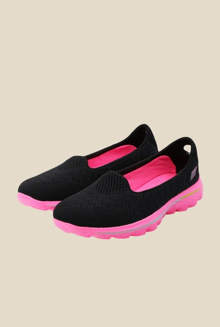 Skechers Go Walk 2 Axis Black & Pink Running Shoes