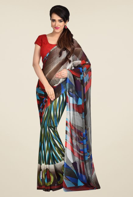 Shonaya Multicolor Dani Georgette Printed Saree