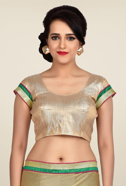 Shonaya Black & Beige Georgette Embroidered Saree