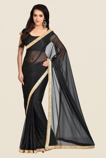 Shonaya Black Lycra Saree