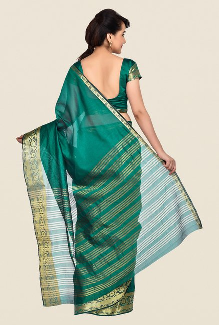 Shonaya Green Banarasi Art Silk Saree