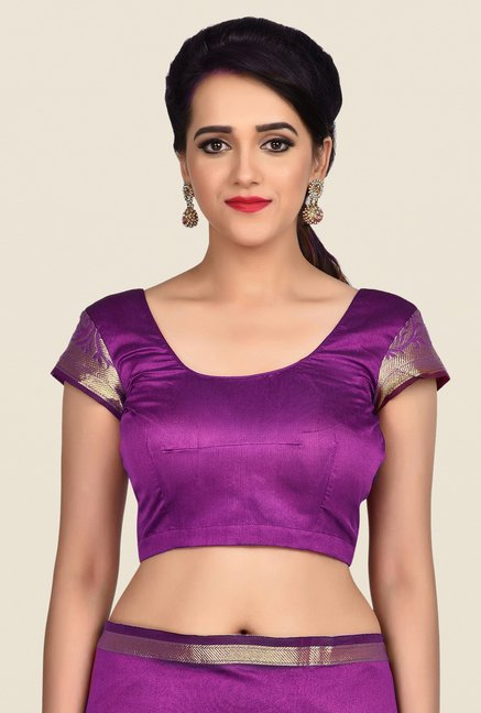 Shonaya Purple Banarasi Art Silk Saree