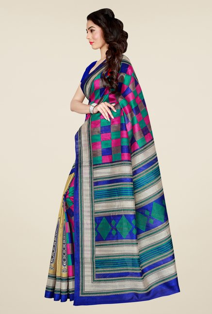Shonaya Multicolor Bhagalpuri Art Silk Saree
