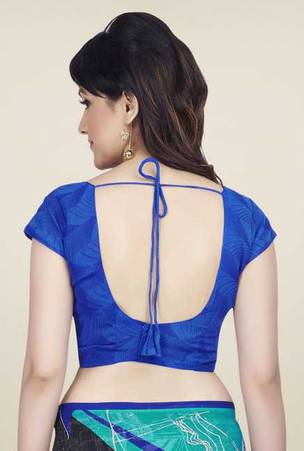 Shonaya Black & Blue Dani Georgette Saree