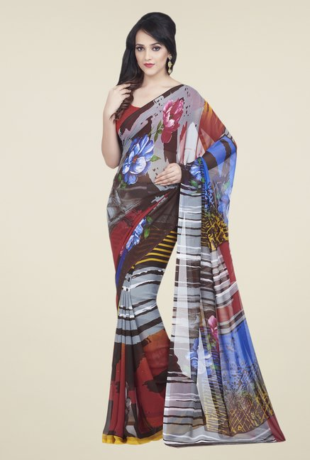 Shonaya Multicolor Dani Georgette Saree