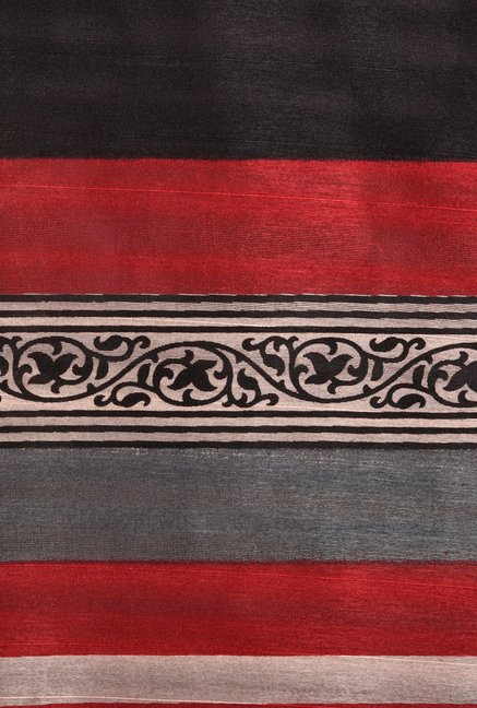 Shonaya Maroon & Black Bhagalpuri Art Silk Saree