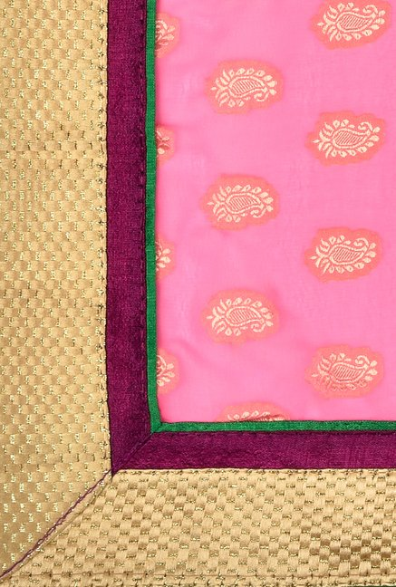 Shonaya Purple & Pink Georgette Saree