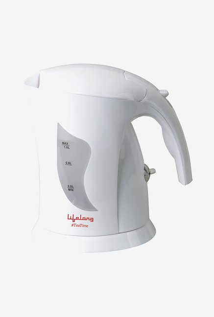 Lifelong TeaTime1 1 L Hairpin Electric Kettle (White)