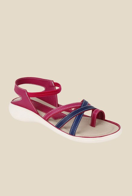 Niremo Pink & Blue Sling Back Sandals