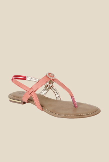 Niremo Peach Sling Back Sandals