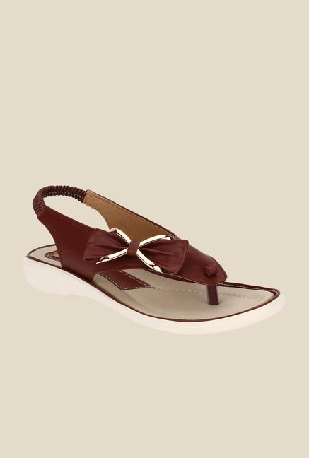 Niremo Brown Sling Back Sandals