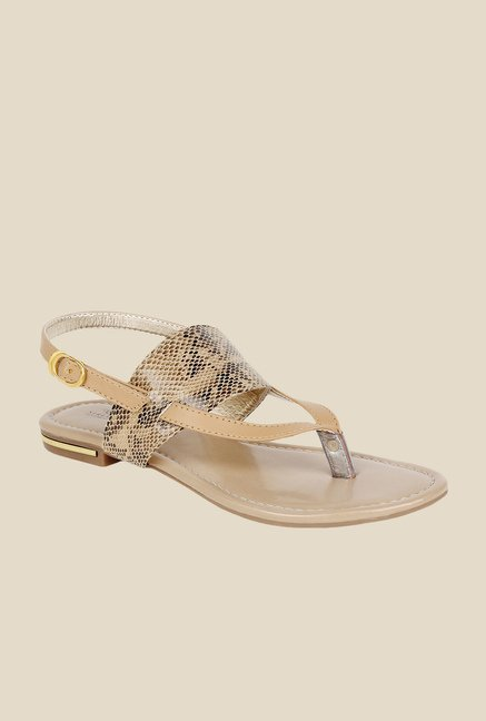 Niremo Beige Back Strap Sandals