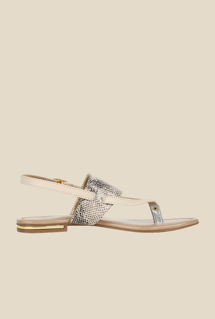 Niremo Cream Back Strap Sandals