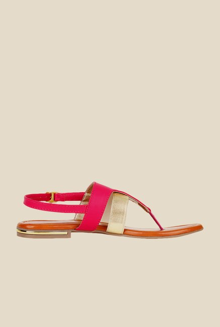 Niremo Pink Back Strap Sandals