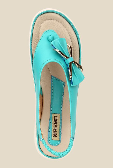 Niremo Sea Green Sling Back Sandals