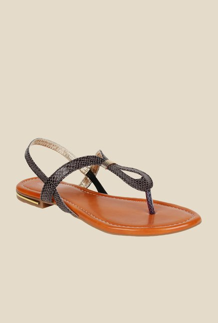 Niremo Grey & Black Sling Back Sandals
