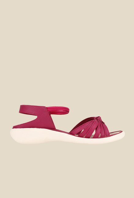 Niremo Pink Sling Back Sandals